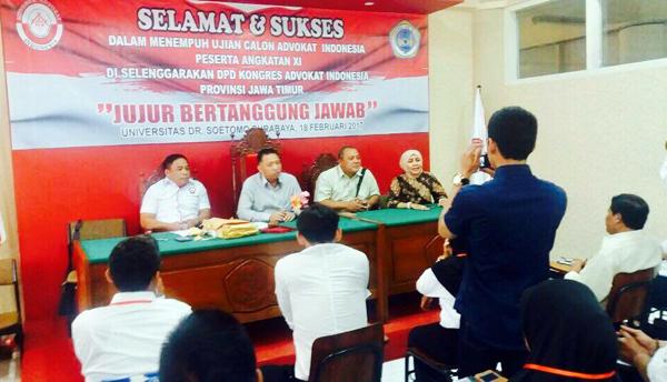 Advokat Harus Bisa Berperan Dalam Penegakan Hukum di Indonesia