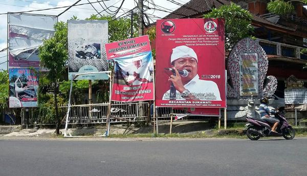 Menteri LHK datang Ke Bali, Baliho Tolak Reklamasi Teluk Benoa Kembali Dirusak