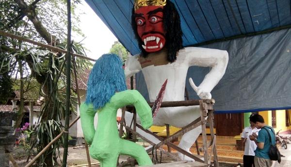 Desa Sukoreno Umbulsari Siap Arak Ogoh-ogoh Sambut Hari Raya Nyepi