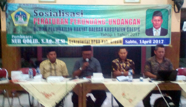 DPRD Gresik Sosialisasikan Perda Pengangkatan dan Pemberhentian Perangkat Desa