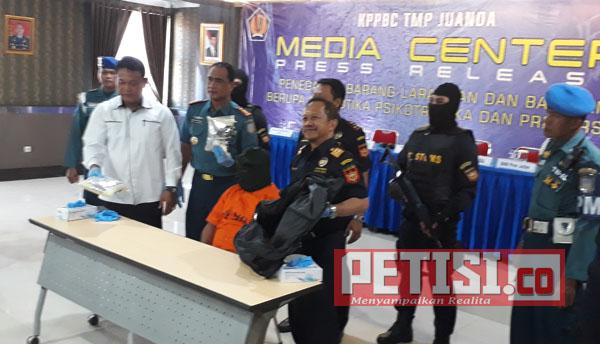 Bea Cukai Juanda Gagalkan Penyelundupan 1,9 Kg Sabu