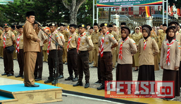 20 Anggota Saka Kencana Sijunjung Ikuti Kemah Bhakti di Padang Panjang