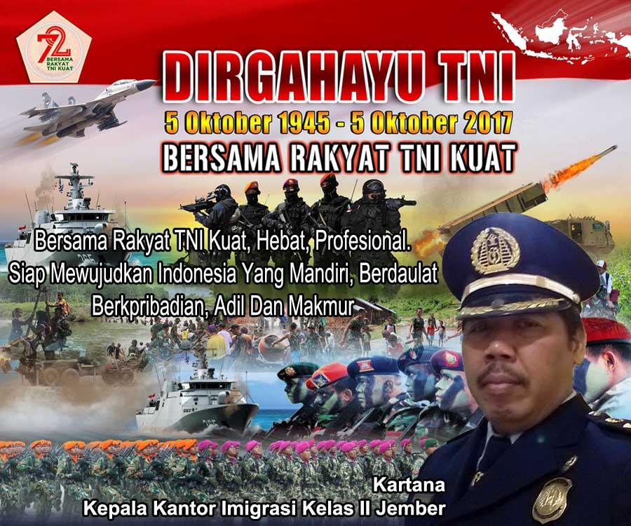 Imigrasi Jember Mengucapkan Selamat HUT TNI Ke-72