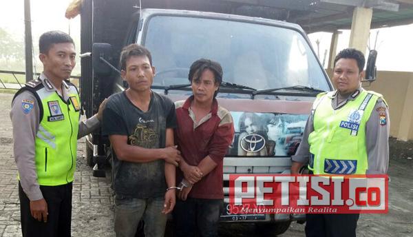 Dua Pencuri Kayu Jati Dijebloskan Tahanan Polsek Ngusikan