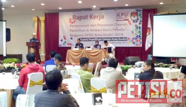 KPU Kota Kediri Susun Alokasi Kursi Pemilu Anggota Legislatif 2019