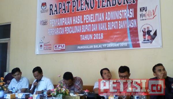 Hasil Tes Kesehatan,  Lima Bapaslon  Bupati/Wakil Bupati Banyuasin Lolos