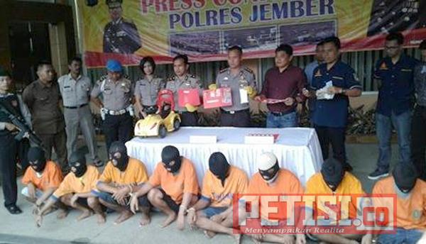 Polres Jember Gulung Komplotan Pelaku Narkoba, Okerbaya dan Curanmor