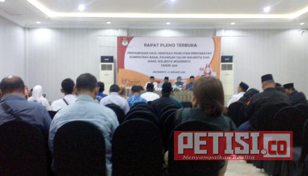 KPU Kota Mojokerto Gelar Rapat Pleno Hasil Verifikasi Calon Pilwali