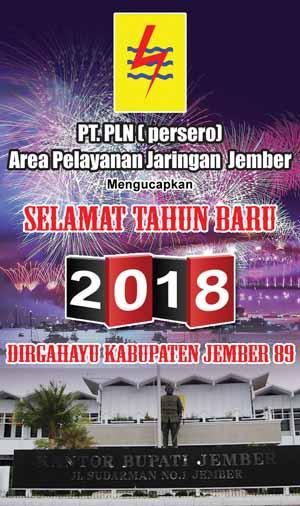 PLN Area Jember Mengucapkan Selamat Tahun Baru