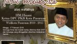 Direktur Pus@ka Turut Berduka Cita Atas Meninggalnya HM Hasani