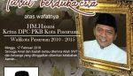 Ketua DPC Partai Gerindra Kabupaten Pasuruan Turut Berduka Cita Atas Meninggalnya HM Hasani