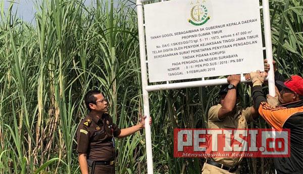 Puluhan Tanah PT Abattoir Surya Jaya Disita Kejati Jatim