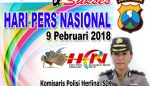 Wakapolres Pasuruan Mengucapkan Selamat Hari Pers Nasional 2018