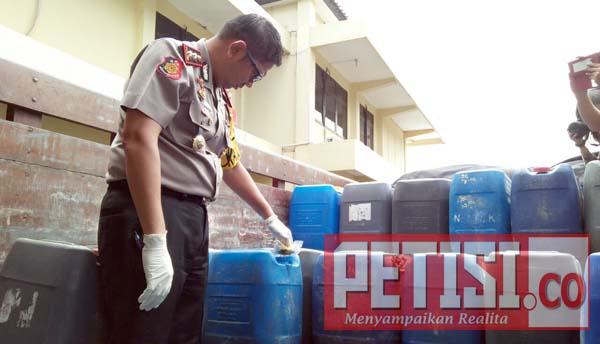 Polres Nganjuk Amankan Ribuan Liter Arjo Dari Solo Jateng