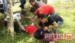 Kecapekan, Penggowes Pingsan di Pinggir Jalan , Ditemukan Anggota Polsek Balong