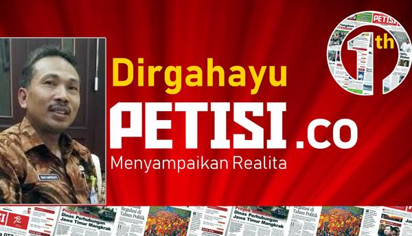 Karo  Humas & Protokol Pemprov Jatim Drs Benny S, MSi Mengucapkan Selamat HUT PETISI ke 1