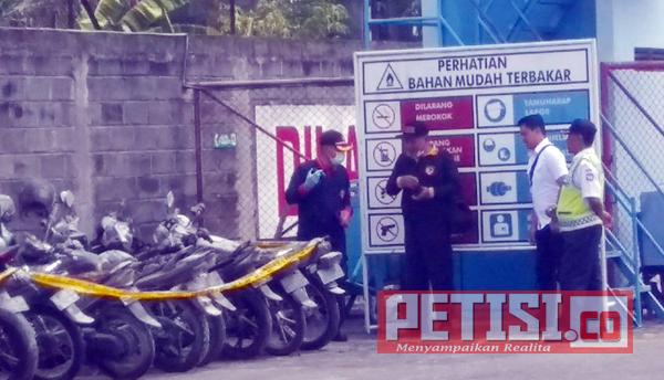 Polisi Periksa Bekas Ledakan LPG di SPBE Kediri