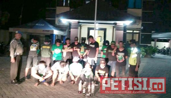 Polsek Pakal Amankan Puluhan Pemuda Pesta Miras