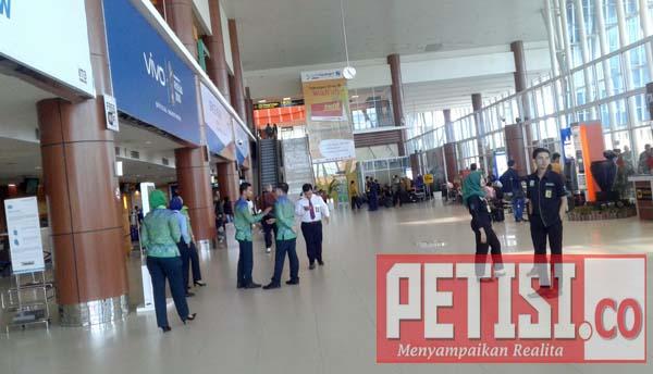 Bandara Sultan Syarif Kasim II Pekanbaru Dijaga Ketat