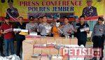 Polres Jember Amankan Penjual  dan 578 Pres Rokok Tanpa Cukai
