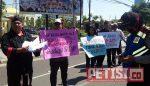 LSM ALOKA Kediri Demo Mapolda,  Tuntut Pengusutan Ujian Perangkat Desa