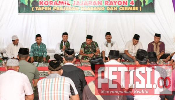 Puncak Safari Ramadan Dandim 0822 Bondowoso di Koramil 0822/16 Cermee