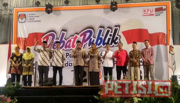 Debat ke-2 Pilwali Kota Kediri, Soroti Permasalahan Gepeng