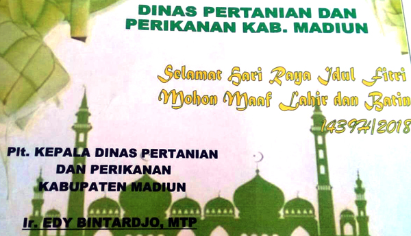 Dinas Pertanian & Perikanan Kab Madiun Ucapkan Idul Fitri  1439 H