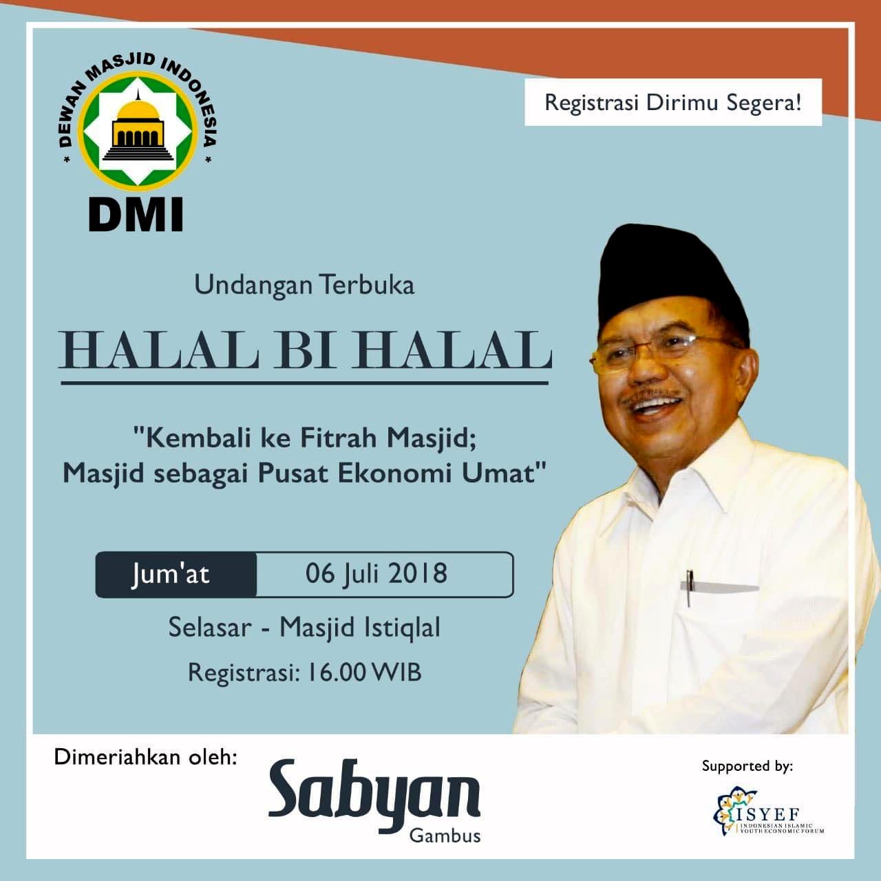 Konsolidasikan Pemakmuran Umat dan Masjid, DMI Gelar Halal Bihalal